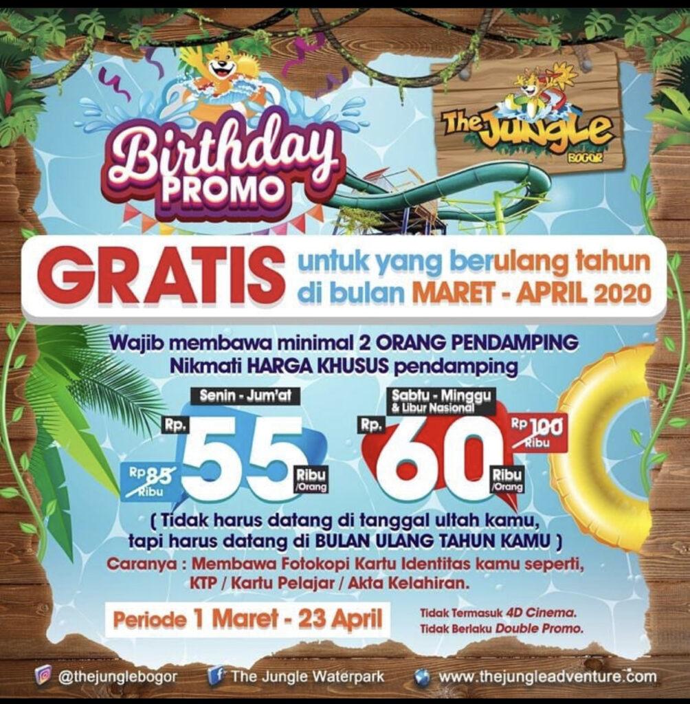 Promo Ulang Tahun The Jungle Bogor